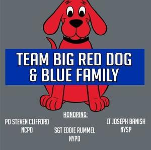 Team Big Red Dog and Blue Family
